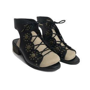 Ecote  Leather Gladiator Heeled Sandal